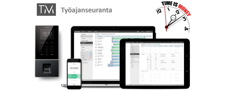 Suomenkielinen työajanseuranta ilman kk-maksuja